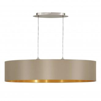 EGLO 31618 | Eglo-Maserlo-T Eglo visilice svjetiljka 2x E27 taupe, zlatno, poniklano mat