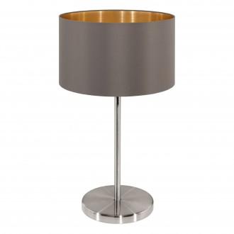 EGLO 31631 | Eglo-Maserlo-C Eglo stolna svjetiljka 42cm sa prekidačem na kablu 1x E27 svijetlucavi cappuchino, zlatno, poniklano mat
