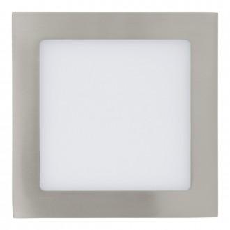 EGLO 31673 | Fueva_1 Eglo ugradbene svjetiljke LED panel četvrtast 170x170mm 1x LED 1200lm 3000K poniklano mat, bijelo