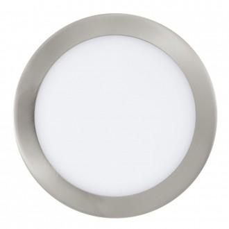 EGLO 31675 | Fueva_1 Eglo ugradbene svjetiljke LED panel okrugli Ø225mm 1x LED 1600lm 3000K poniklano mat, bijelo