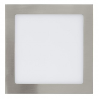 EGLO 31677 | Fueva_1 Eglo ugradbene svjetiljke LED panel četvrtast 225x225mm 1x LED 1700lm 3000K poniklano mat, bijelo