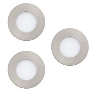 EGLO 32882 | EGLO-Connect-Fueva Eglo ugradbene svjetiljke smart rasvjeta okrugli jačina svjetlosti se može podešavati, sa podešavanjem temperature boje, promjenjive boje, trodijelni set Ø85mm 3x LED 1080lm 2700 <-> 6500K poniklano mat, bijelo