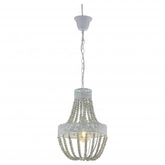 EGLO 33008 | Barrhill-1 Eglo luster svjetiljka 1x E27 siva antik