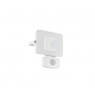 EGLO 33156 | Faedo Eglo reflektor svjetiljka - Samsung Chip sa senzorom, svjetlosni senzor - sumračni prekidač elementi koji se mogu okretati 1x LED 900lm 4000K IP44 bijelo, prozirna