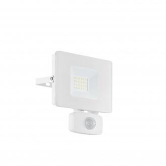 EGLO 33157 | Faedo Eglo reflektor svjetiljka - Samsung Chip sa senzorom, svjetlosni senzor - sumračni prekidač elementi koji se mogu okretati 1x LED 1800lm 4000K IP44 bijelo, prozirna
