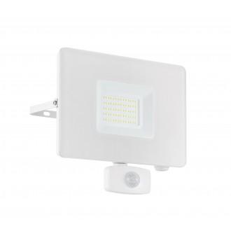 EGLO 33159 | Faedo Eglo reflektor svjetiljka - Samsung Chip sa senzorom, svjetlosni senzor - sumračni prekidač elementi koji se mogu okretati 1x LED 4800lm 4000K IP44 bijelo, prozirna