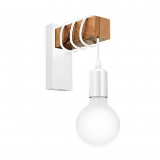 EGLO 33162 | Townshend Eglo zidna svjetiljka 1x E27 bijelo, smeđe