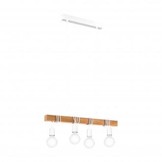 EGLO 33164 | Townshend Eglo visilice svjetiljka 4x E27 bijelo, smeđe