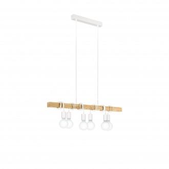 EGLO 33165 | Townshend Eglo visilice svjetiljka 6x E27 bijelo, smeđe