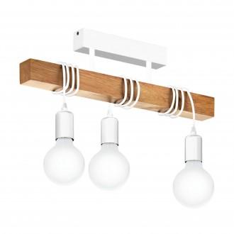 EGLO 33166 | Townshend Eglo stropne svjetiljke svjetiljka 3x E27 bijelo, smeđe