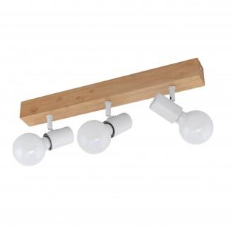 EGLO 33171 | Townshend-3 Eglo spot svjetiljka elementi koji se mogu okretati 3x E27 smeđe, bijelo