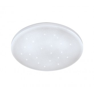 EGLO 33596 | Frania-S Eglo zidna, stropne svjetiljke svjetiljka okrugli 1x LED 900lm 4000K bijelo, učinak kristala