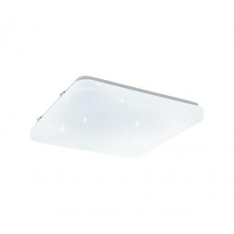 EGLO 33607 | Frania-S Eglo zidna, stropne svjetiljke svjetiljka četvrtast 1x LED 1350lm 4000K bijelo, učinak kristala