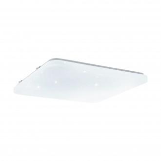 EGLO 33611 | Frania-S Eglo stropne svjetiljke svjetiljka četvrtast sa podešavanjem temperature boje 1x LED 4600lm 3000 <-> 5000K bijelo, učinak kristala