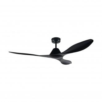 EGLO 35016 | Antibes-EG Eglo ventilator stropne svjetiljke daljinski upravljač timer crno mat