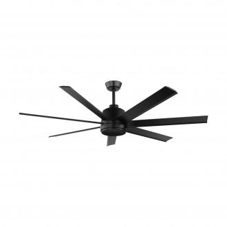 EGLO 35019 | Azar-60 Eglo ventilator stropne svjetiljke daljinski upravljač s podešavanjem visine crno mat