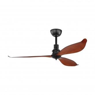 EGLO 35026   Lagos-52 Eglo ventilator stropne svjetiljke daljinski upravljač timer crno mat, smeđe