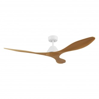 EGLO 35069 | Antibes-EG Eglo ventilator stropne svjetiljke daljinski upravljač timer bijelo mat, boje bambusa