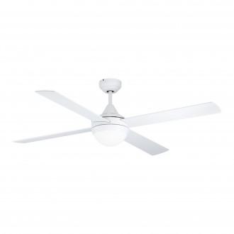EGLO 35082 | Varadero Eglo ventilatorska lampa stropne svjetiljke daljinski upravljač timer 2x E27 bijelo mat, boja hrasta