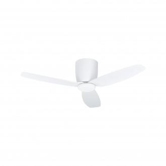 EGLO 35086 | Bavaro Eglo ventilatorska lampa stropne svjetiljke daljinski upravljač timer, UV odporna plastika 1x LED 1850lm 4000K UV bijelo mat
