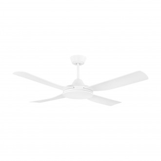 EGLO 35088 | Bondi-1 Eglo ventilator stropne svjetiljke daljinski upravljač timer, UV odporna plastika UV bijelo mat