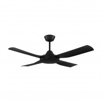 EGLO 35091 | Bondi-1 Eglo ventilator stropne svjetiljke daljinski upravljač timer, UV odporna plastika UV crno mat