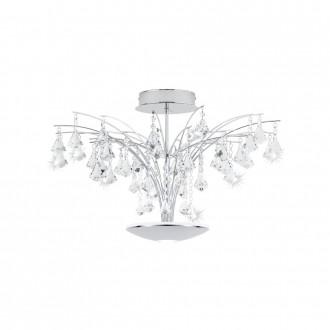EGLO 39031 | Miramas Eglo stropne svjetiljke svjetiljka daljinski upravljač 1x LED 1800lm + 1x LED 650lm 4000K krom, prozirno