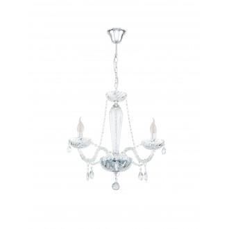 EGLO 39098 | Basilano Eglo luster svjetiljka 3x E14 krom, prozirna