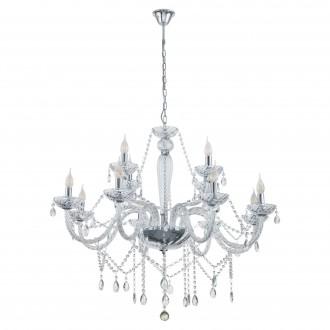 EGLO 39102 | Basilano Eglo luster svjetiljka 12x E14 krom, prozirna