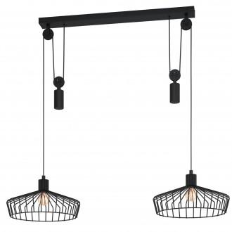 EGLO 43438 | Winkworth Eglo visilice svjetiljka balansna - ravnotežna, sa visinskim podešavanjem 2x E27 crno