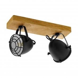 EGLO 49077 | Gatebeck Eglo spot svjetiljka 2x E14 drvo, crno