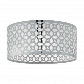 EGLO 49161 | Leamington-1 Eglo stropne svjetiljke svjetiljka okrugli 1x E27 poniklano mat, krom, prozirna