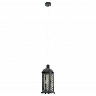 EGLO 49215 | Winsham Eglo visilice svjetiljka 1x E27 zelena antik