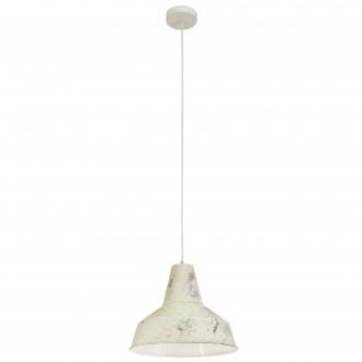 EGLO 49249 | Somerton Eglo visilice svjetiljka 1x E27 antik bijela, bijelo