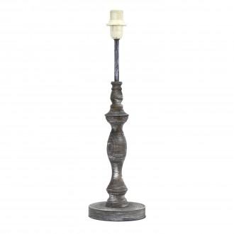 EGLO 49304 | Vintage-1+1 Eglo stolna svjetiljka - bez sjenila 42cm sa prekidačem na kablu 1x E14 siva antik