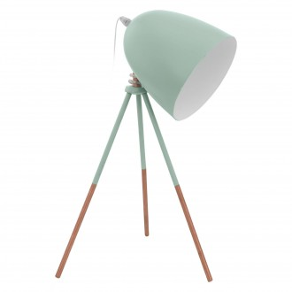 EGLO 49337   Dundee Eglo stolna svjetiljka 44cm sa prekidačem na kablu 1x E27 menta