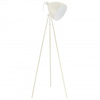 EGLO 49338   Dundee Eglo podna svjetiljka 135,5cm s poteznim prekidačem 1x E27 boja pijeska, bijelo