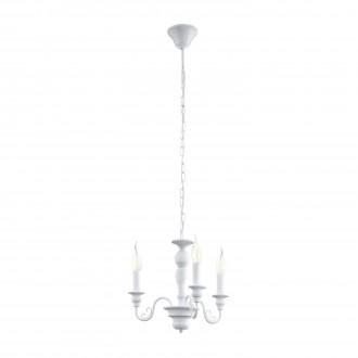 EGLO 49384 | Caposile Eglo luster svjetiljka 3x E14 bijelo