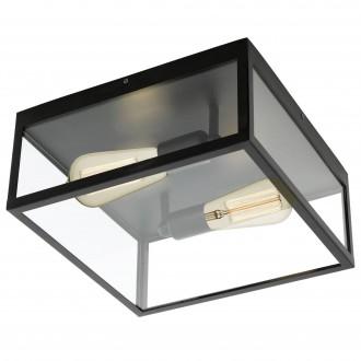 EGLO 49392 | Charterhouse Eglo stropne svjetiljke svjetiljka 2x E27 crno, prozirna