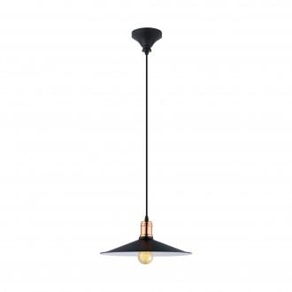 EGLO 49452 | Bridport Eglo visilice svjetiljka 1x E27 crno, bakar