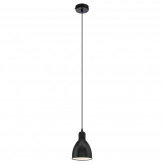 EGLO 49464 | Priddy Eglo visilice svjetiljka 1x E27 crno, bijelo