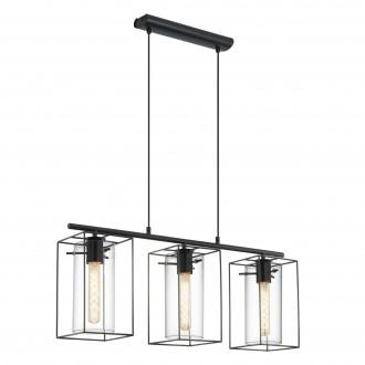 EGLO 49496 | Loncino Eglo visilice svjetiljka 3x E27 crno, dim