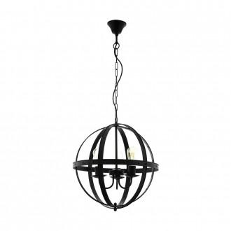 EGLO 49517 | Barnaby Eglo visilice svjetiljka 3x E27 crno