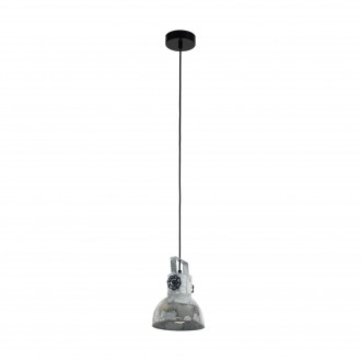 EGLO 49619 | Barnstaple Eglo visilice svjetiljka 1x E27 braon antik, crno