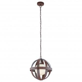 EGLO 49629 | Westbury-1 Eglo visilice svjetiljka 1x E27 rdža smeđe, bijelo