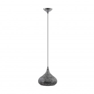 EGLO 49714 | Melilla Eglo visilice svjetiljka 1x E27 antik srebrna