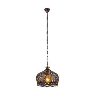 EGLO 49764 | Jadida Eglo visilice svjetiljka 1x E27 antik crveni bakar, u bojama