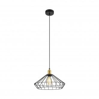 EGLO 49788 | Denham Eglo visilice svjetiljka 1x E27 bronca, crno