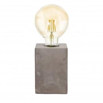 EGLO 49812 | Prestwick Eglo stolna svjetiljka 13cm sa prekidačem na kablu 1x E27 sivo