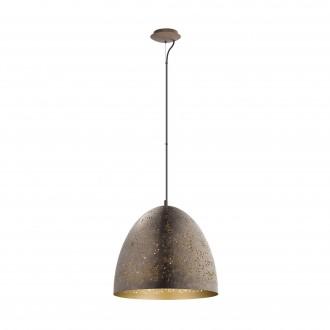EGLO 49815 | Safi Eglo visilice svjetiljka 1x E27 smeđe, zlatno